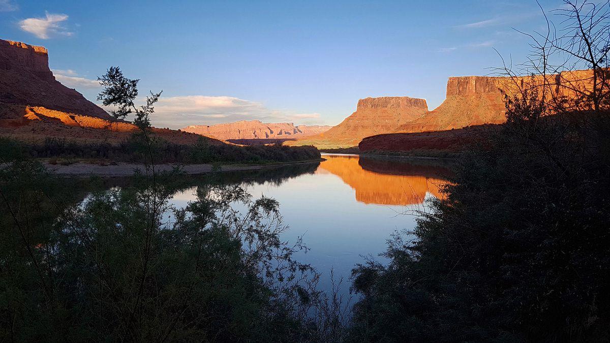 Red Cliffs Lodge coucher du soleil