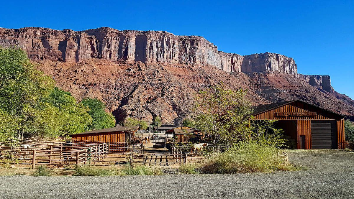 Red Cliffs Lodge corral