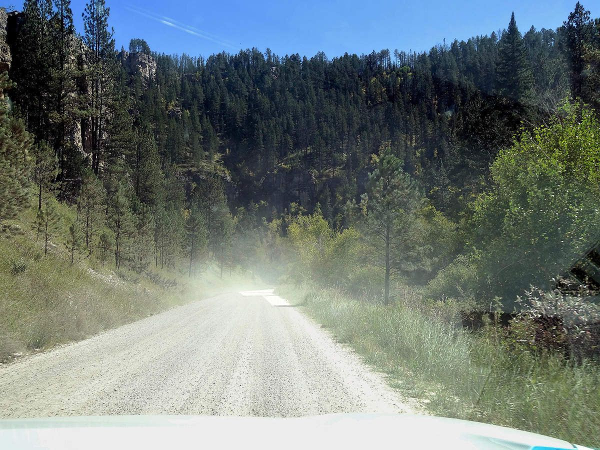 Spearfish Canyon Forest road 222 unpaved