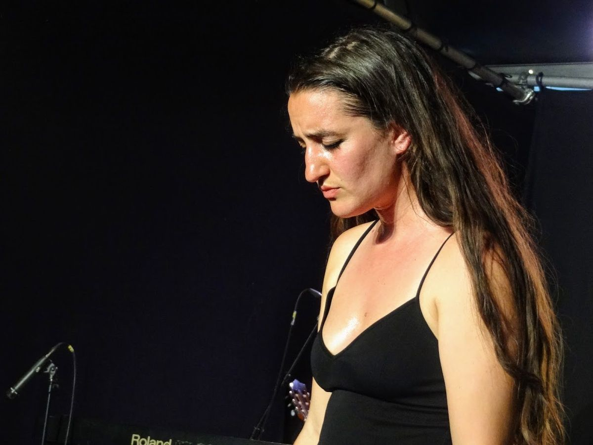 Estelle Meyer au Lyncéus Festival, Esplanade de la Banche, Binic, le 28 juin 2019