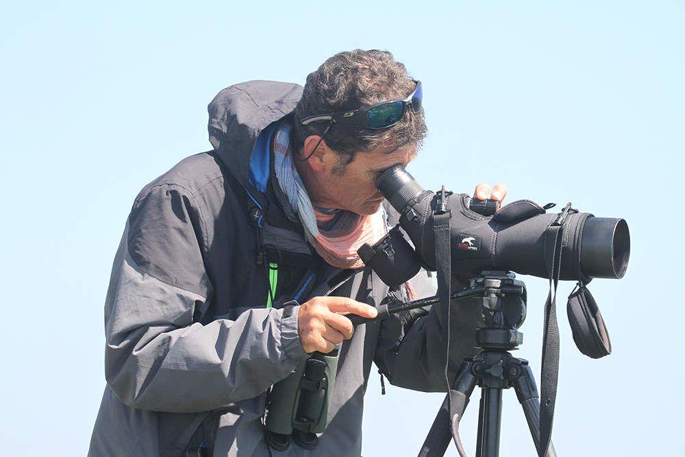 Bruno, le conservateur de l'île aux Moutons, surveille la réserve.