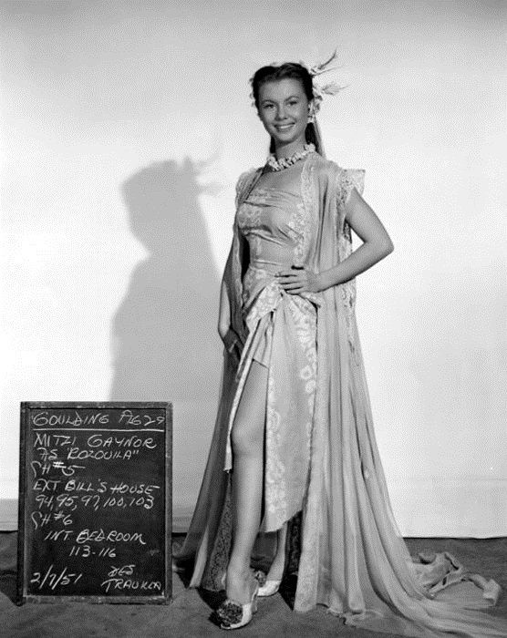 MITZY GAYNOR POUR DOWN AMONG THE SHELTERED PALMS