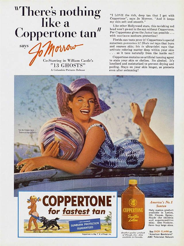 JO MORROW POUR COPPERTONE