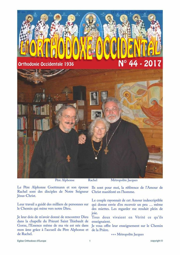 "Journal ""L'Orthodoxe Occidental"" N°44"