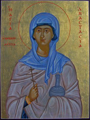 Sainte Vierge et Martyre ANASTASIE la Romaine