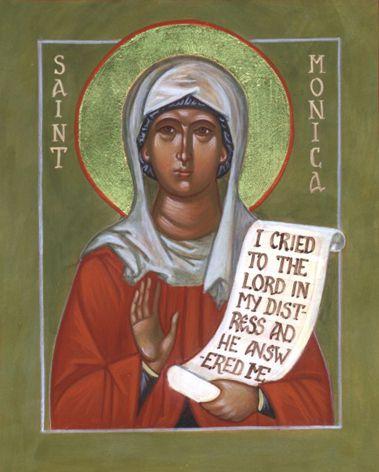 Sainte MONIQUE, mère de Saint Augustin