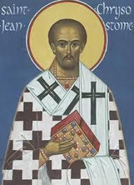 Père de l'Église d'Orient  : Jean Chrysostome († 407)