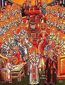 premier Concile oecuménique de Nicée, où se réunirent trois cent dix-huit Pères théophores