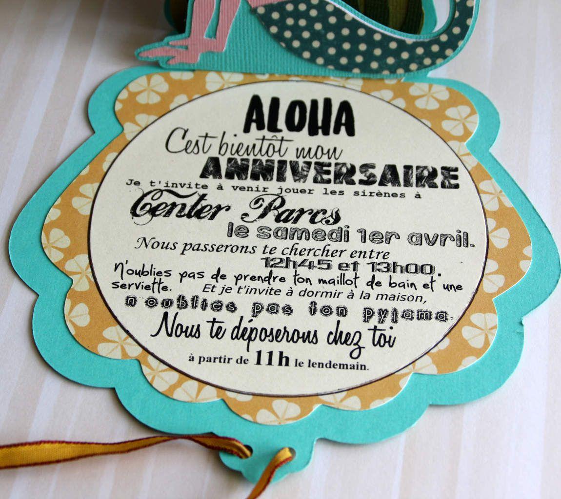 Carte D Invitation Anniversaire Sirene Bout De Ficelle