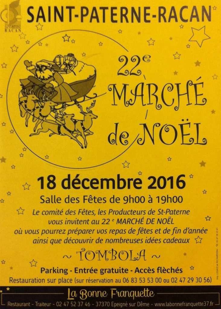 Marché de Noël à Saint-Paterne-Racan