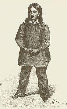 Représentation d'Henri Mondeux