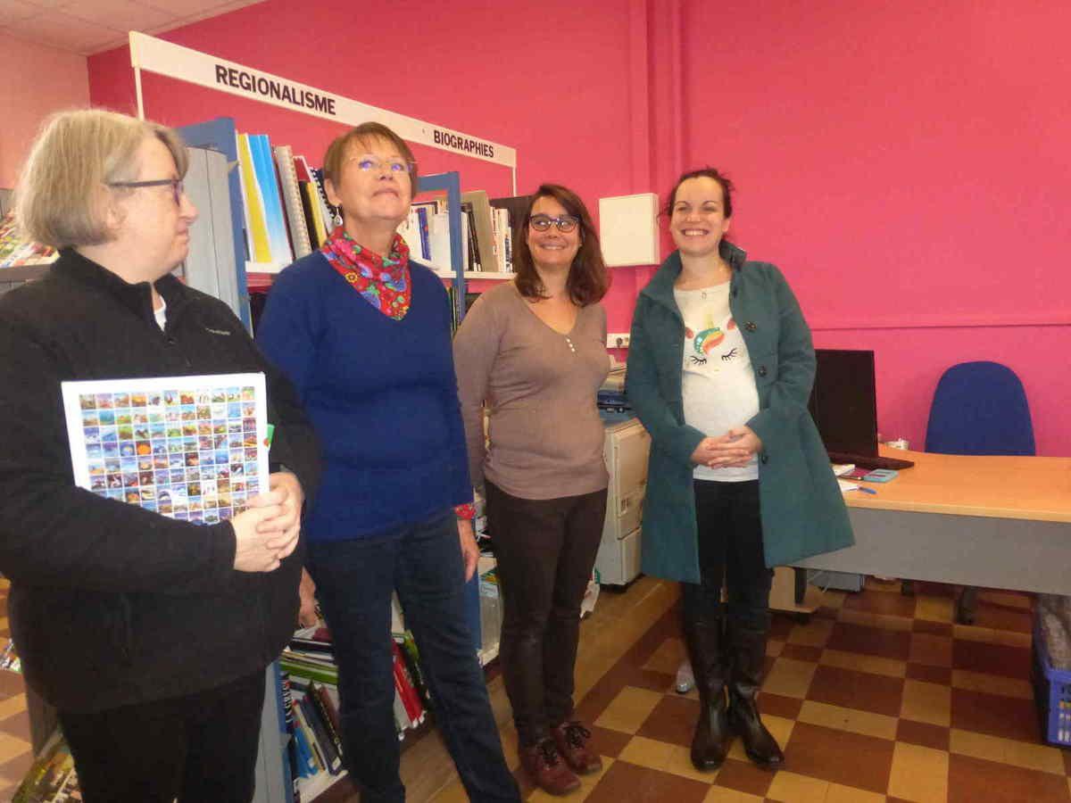 de G. à d : Nathalie Marandeau, Catherine Lemaire, Laëtitia Rousseau et une lectrice enthousiaste