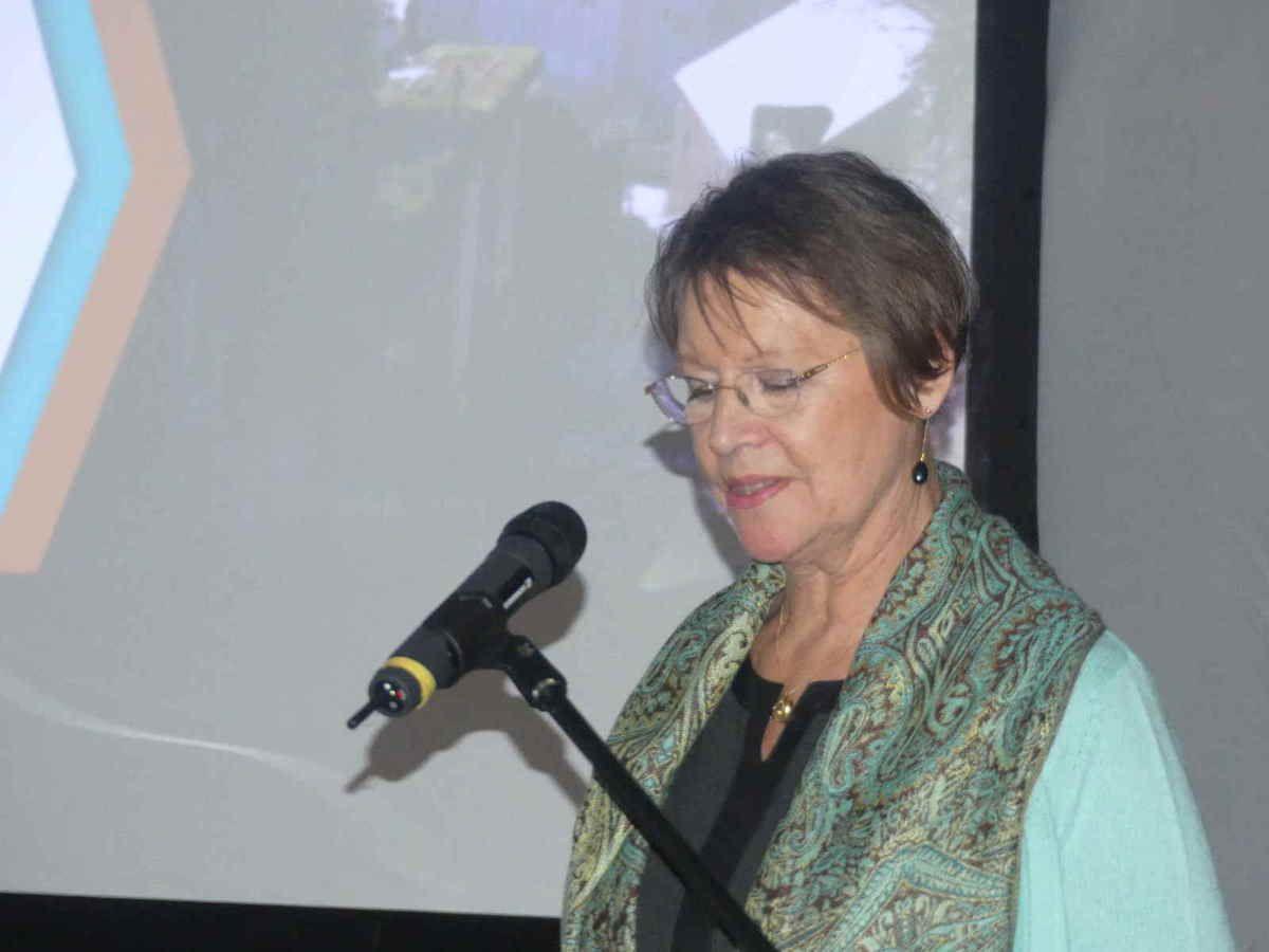 Catherine Lemaire, lors de son discours