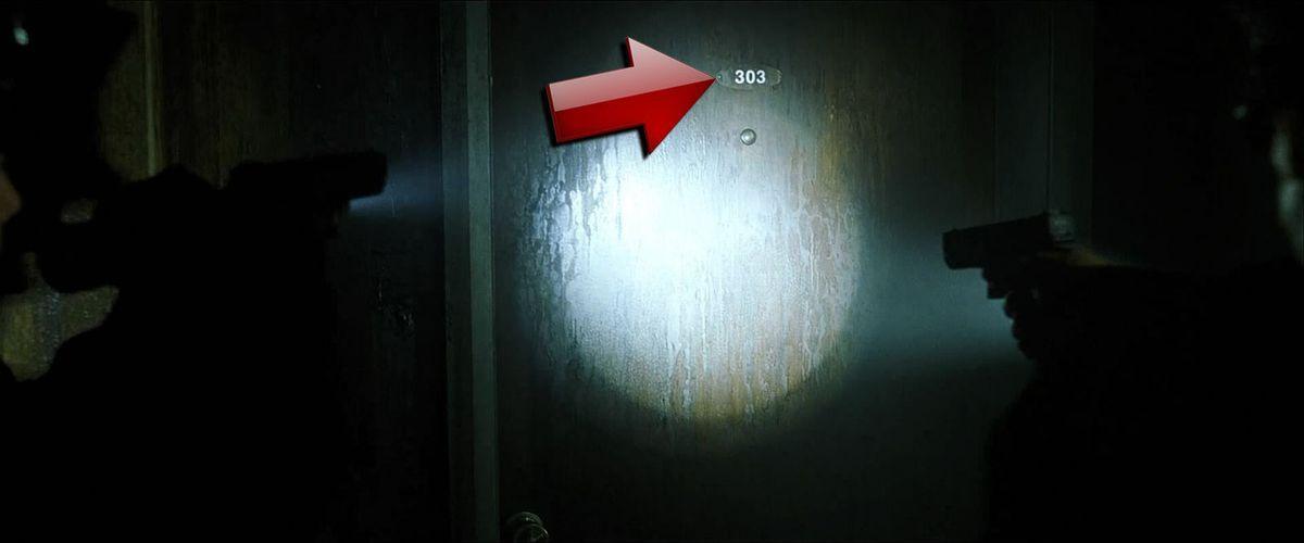 Matrix: El cuarto de Trinity es el 303, su nombre significa Trinidad