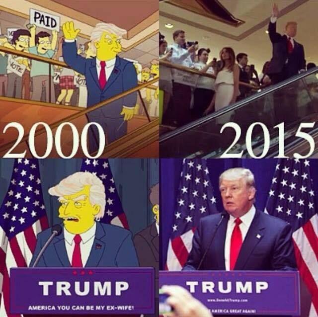 """La serie Los Simpson """"predijo"""" que Donald Trump ganaría las elecciones"""