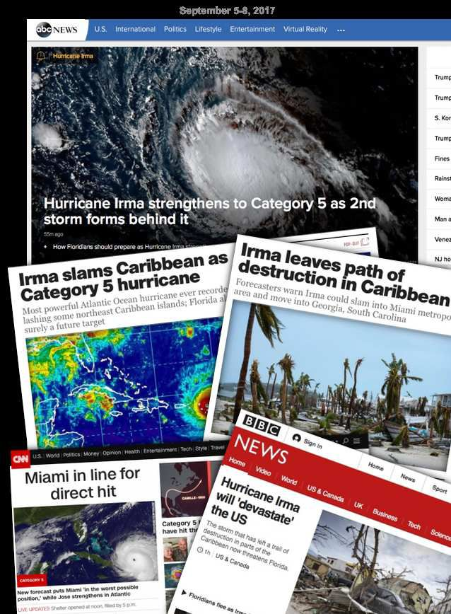 IRMA, la gran inundación,  la puesta de escenarios catastróficos
