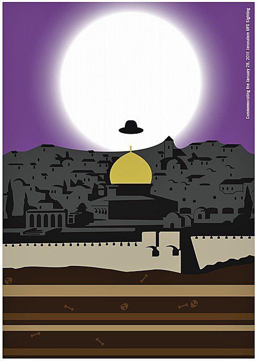 OVNI sobre Jerusalén,  por Hjalti Karlsson and Jan Wilker