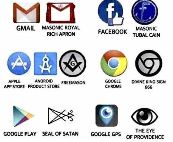 Simbolismo esotérico en los logos de Facebook, Google y Apple