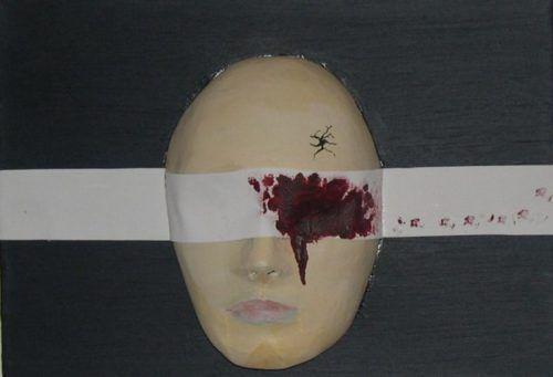 Esta pintura llamada I-Test también describe visualmente el trauma y la programación de un esclavo MK.