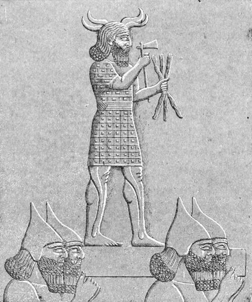 Adad en accadio, Ishkur en sumerio y Hadad en arameo y árabe, son los nombres del dios de la tormenta en el panteón babilónico, asirio y accadio.