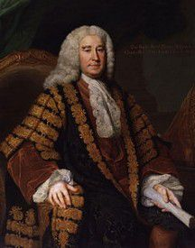 Henry Pelham, 1694 – 1754,  Prime Minister of Great Britain & Chancellor of the Exchequer