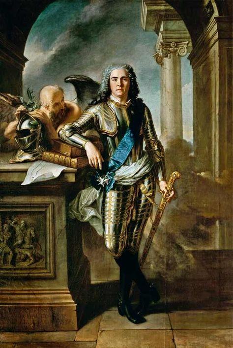 Mauricio de Sajonia, 1696-1750, Mariscal General de Francia, hijo ilegítimo de Federico Augusto I