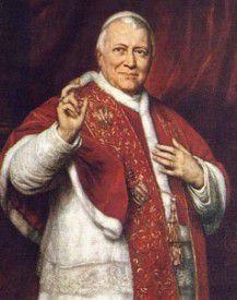 El antipapa Pío IX, 1792 - 1878, el Papa que reinó por más tiempo en la historia, centralizó la Iglesia en el Vaticano