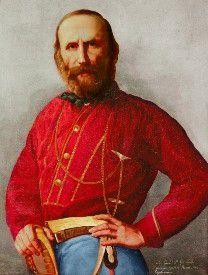 Giuseppe Garibaldi, 1807 - 1882, revolucionario italiano y masón, Gran Maestro del Gran Oriente de Italia