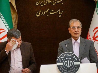 En medio de una conferencia de prensa sobre la epidemia de coronavirus, el viceministro iraní de la Salud, Iraj