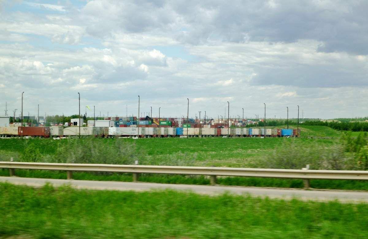 La banlieue d'Edmonton