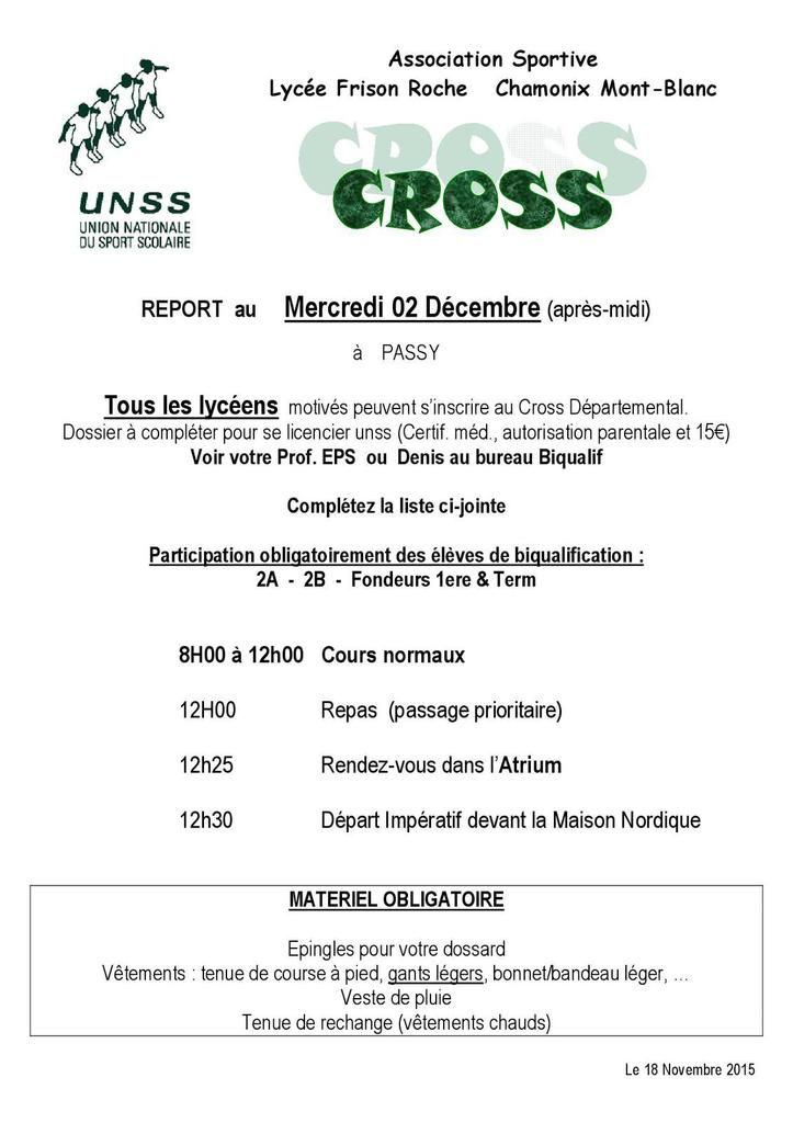 Cross Unss Départemental