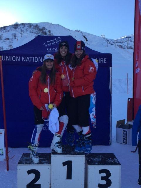 Clara, Arielle et Charlotte Championnes de France UNSS 2017
