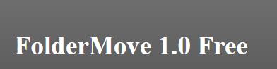FolderMove, déplacez vos programmes sur un autre disque.