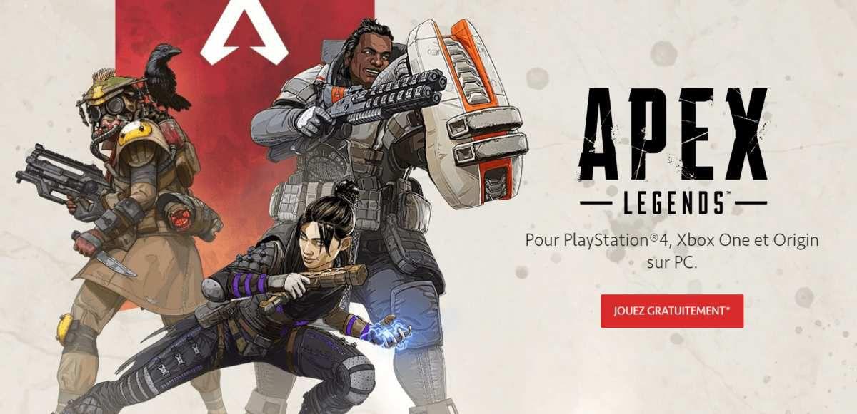 Jouez gratuitement à APEX LEGENDS.