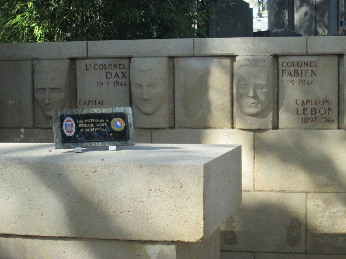 Monument pour la Brigade Fabien - Brigades Internationales