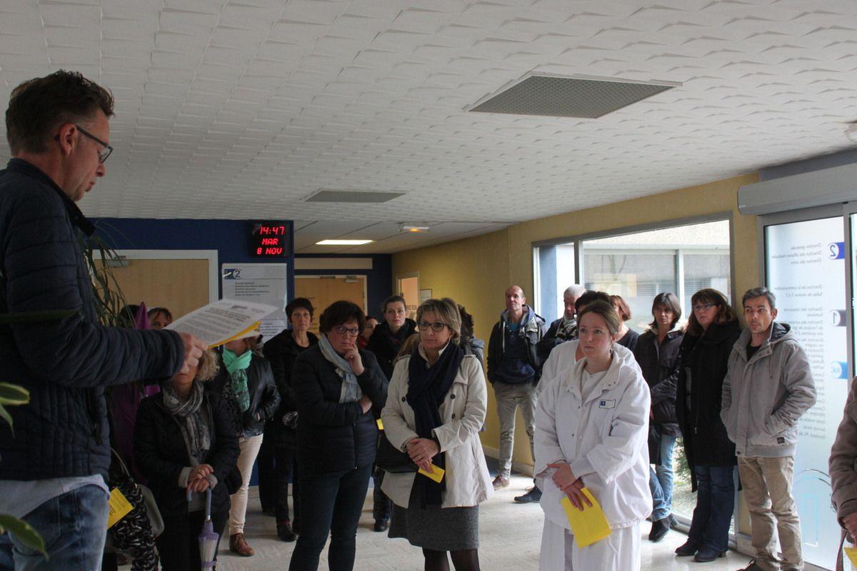 Photos du rassemblement à l'hôpital de Morlaix du 8 novembre (Jean-Luc Le Calvez)