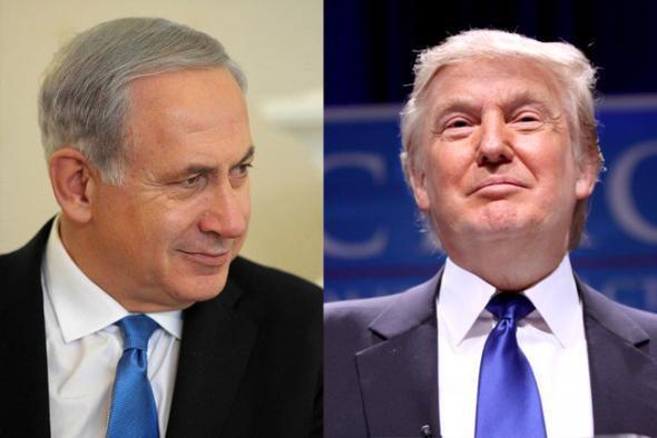 Netanyahou se félicite de l'élection de son ami Trump (Médiapart, 11 novembre 2016)