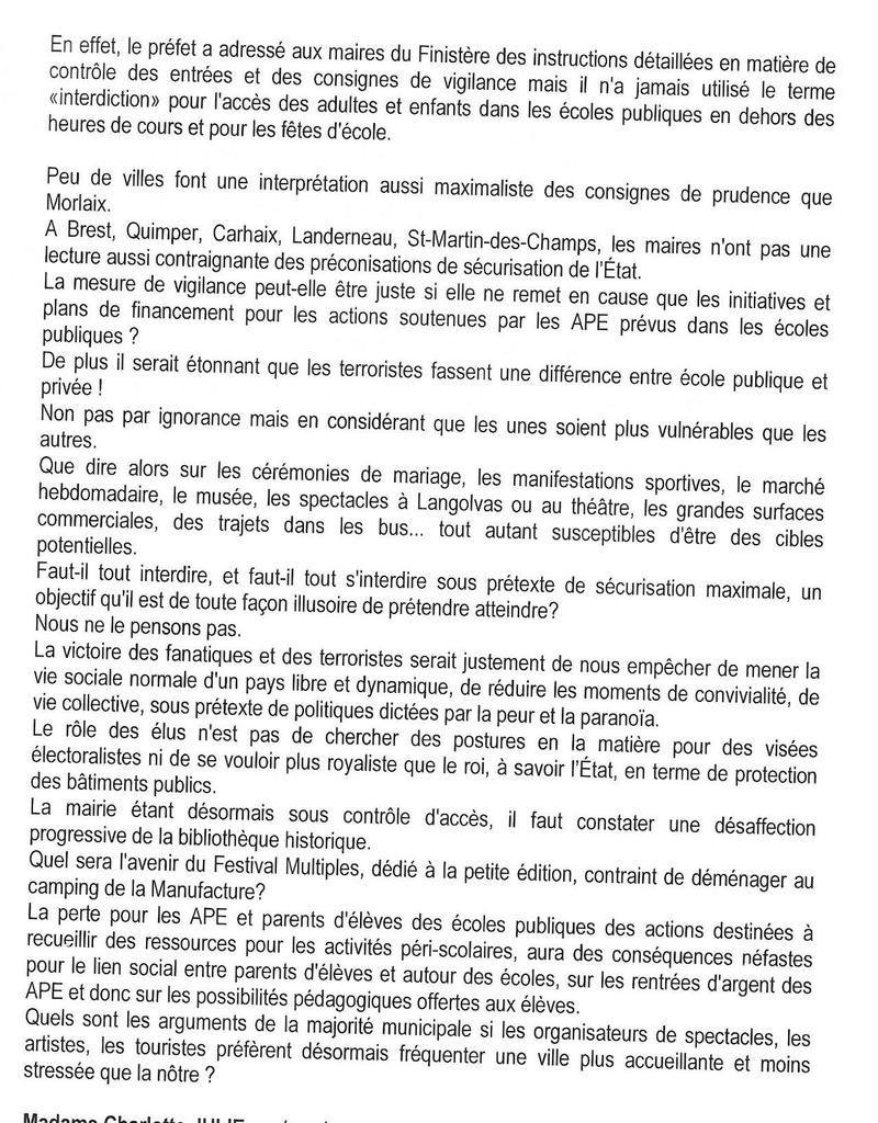 Ordre du jour du Conseil Municipal de Morlaix le Jeudi 17 novembre à 18h30 - vidéos des conseils municipaux de septembre et octobre