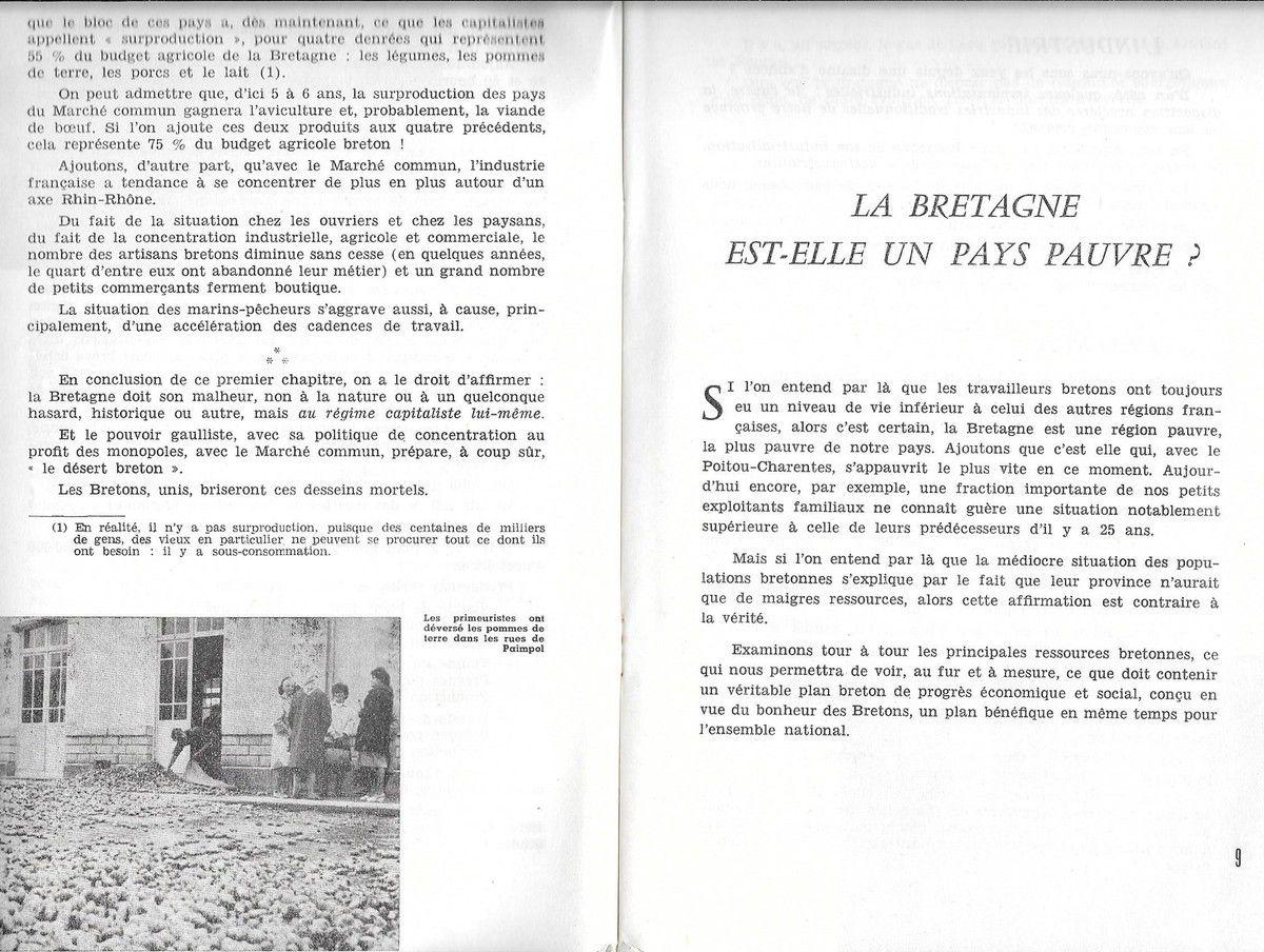 Pour que la Bretagne devienne une terre de bonheur dans une France démocratique (diagnostic de territoire et projet du PCF Bretagne en 1964)