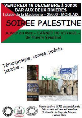La Palestine au bar des deux rivières vendredi soir, 16 décembre