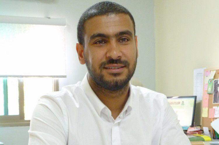 Mahmoud al Weesi, palestinien d'Israël, journaliste et aujourd'hui coordinateur de la communication du comité des libertés « Lajnat al horiya » à Nazareth