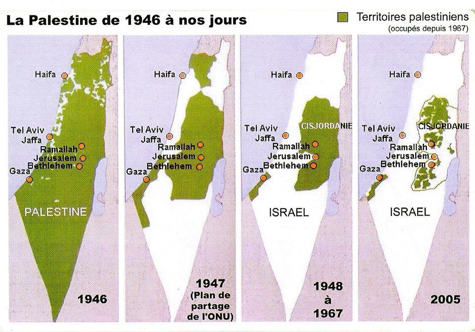 La Palestine de 1946 à nos jours