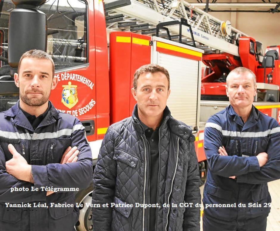 """Pompiers du Finistère: """"On veut nous empêcher de faire grève"""" (Le Télégramme - 11 janvier 2017)"""