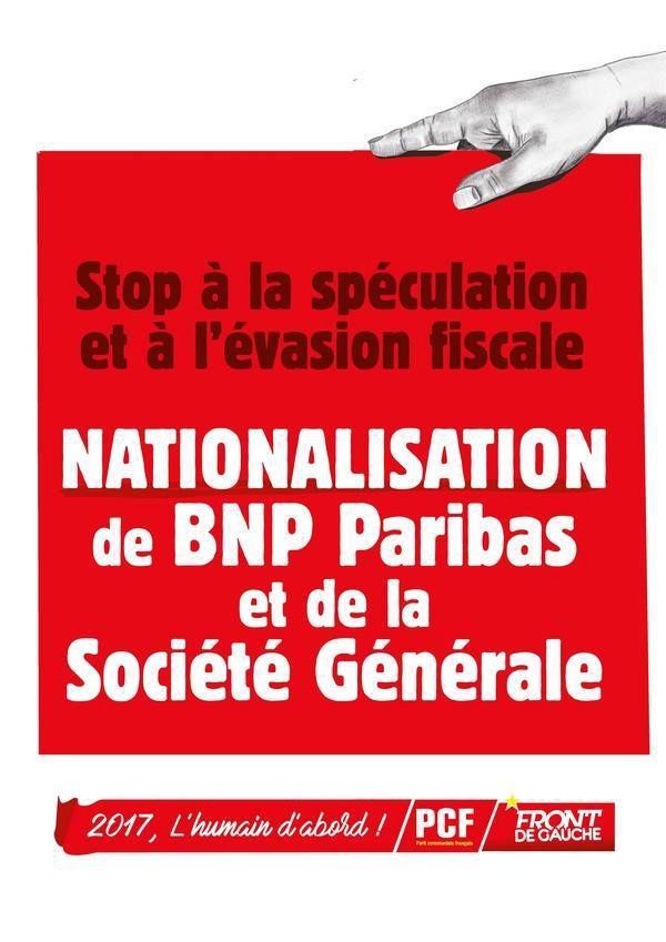 Campagne d'affichage communiste - janvier 2017 (nationalisations des banques, égalité homme-femme, du fric pour les services publics, sécurité emploi-formation, le peuple à l'Assemblée Nationale)