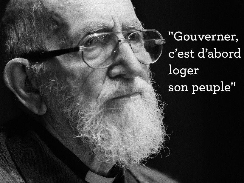 Il y a dix ans mourrait Henri Grouès, l'abbé Pierre: une vie au service des pauvres depuis son appel du 1er février 1954  (hommage de Robert Clément)
