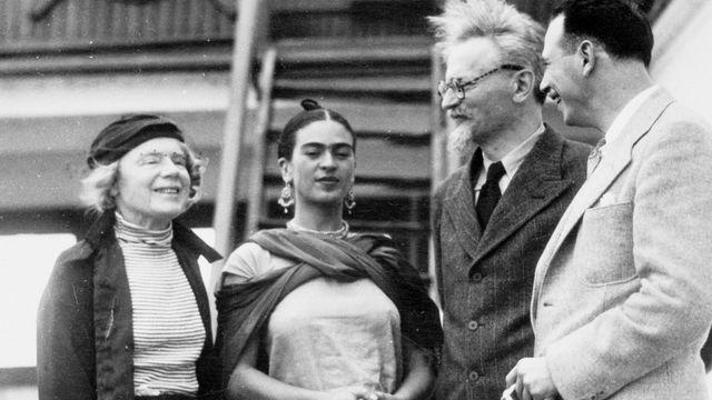 Leon Trotski et Frida Kahlo
