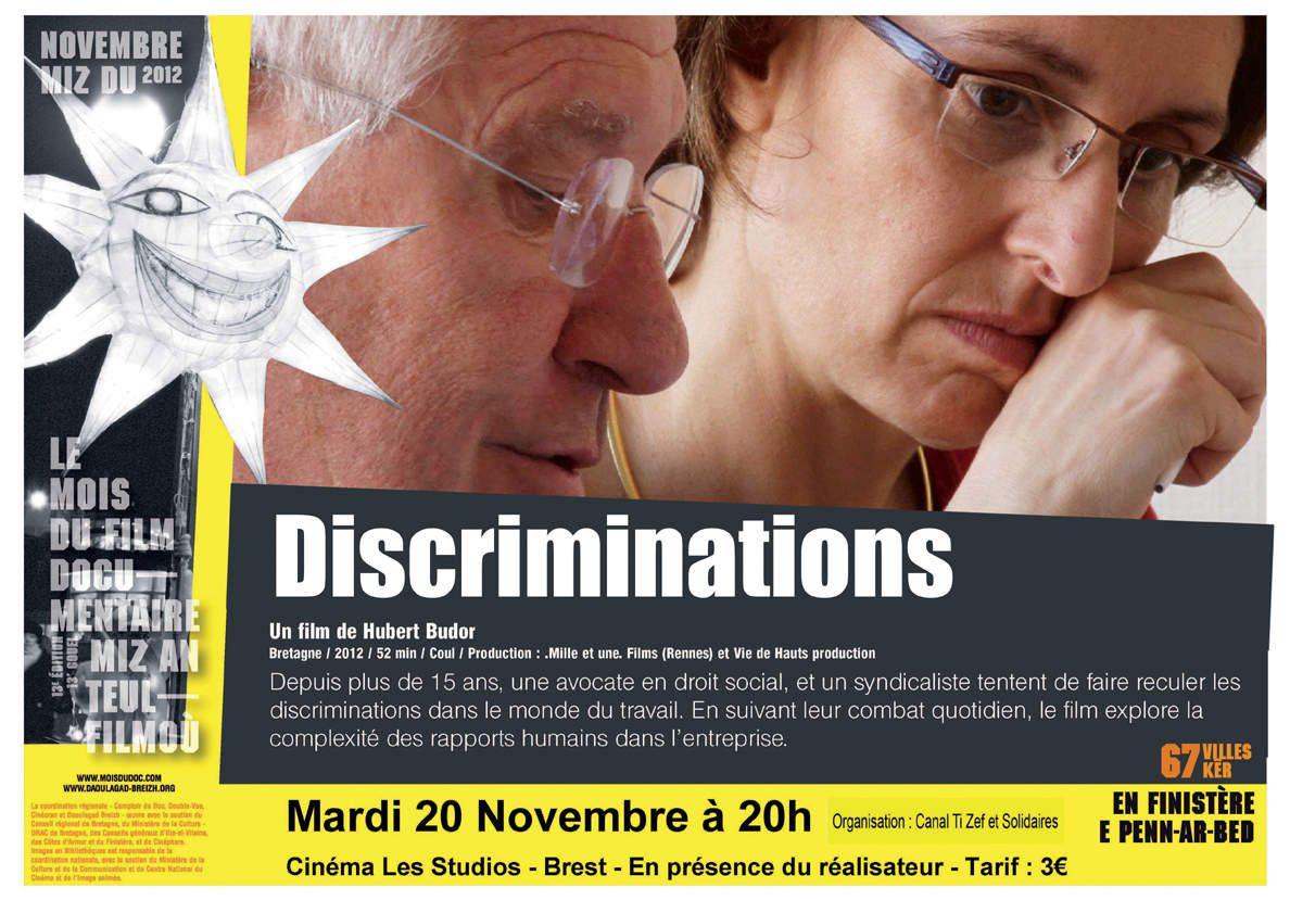 Discriminations, un film d'Hubert Budor à la MJC de Morlaix le jeudi 6 avril à 20h30