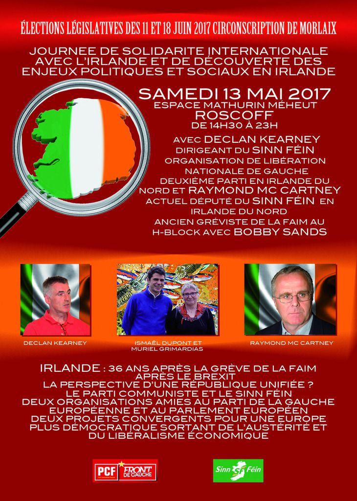 Campagne législative, annonces de nos réunions publiques à Roscoff et Lanmeur: présences sur les marchés de Roscoff, Lanmeur, Morlaix, les 10, 12 et 13 mai