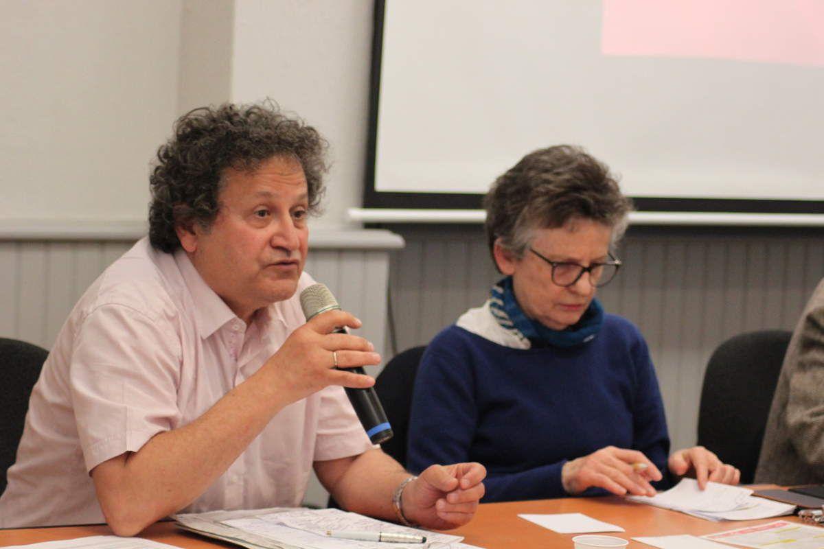 Le docteur Fabien Cohen à côté de Christiane Caro (photo JL Le Calvez)