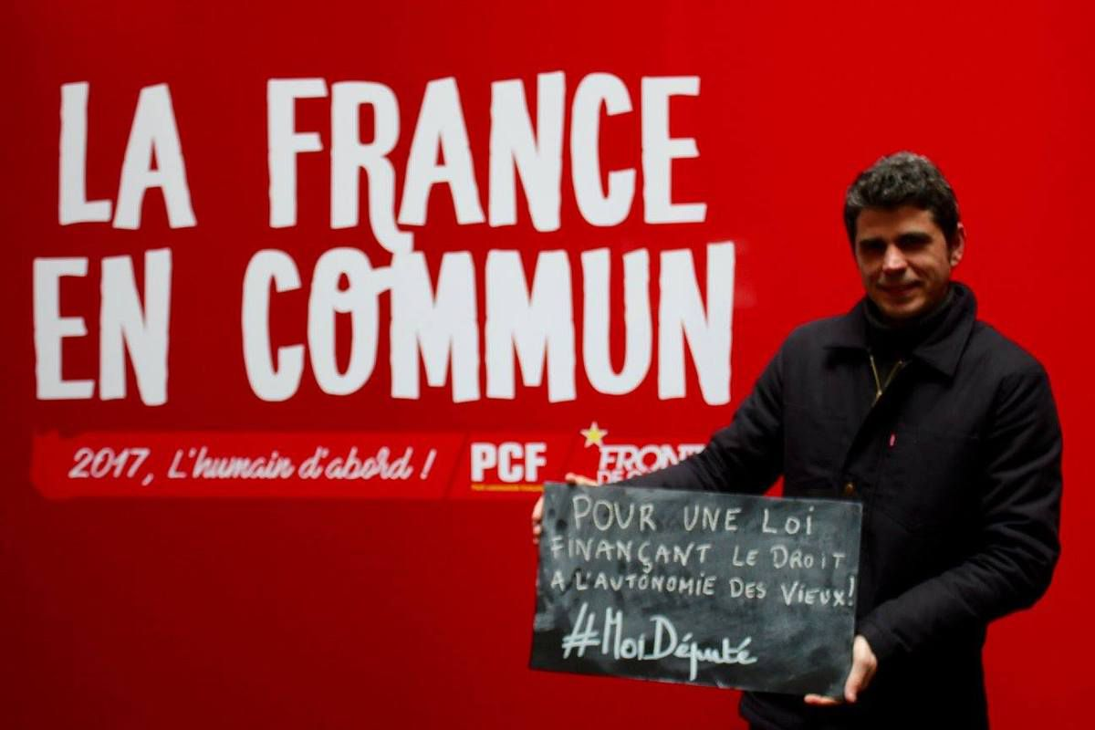 Tribune d'Ismaël Dupont - candidat PCF-Front de Gauche aux élections législatives dans la 4ème circonscription du Finistère - Ouest-France Morlaix, 1er juin 2017